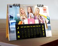 Calendar Design - 2017 for Orobindo