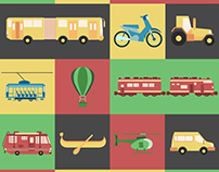 20 Transport Icons Package