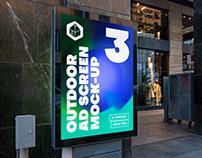 Outdoor Advertising Screen Mock-Ups 15 (v.1)