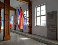 In Mauthausen camp: flags in the laundry barracks