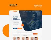 Onna Hair UI/UX Design