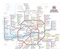 Moscow metro map