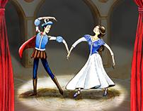 Cartaz da peça Romeu e Julieta.