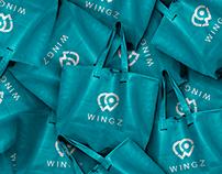 wingz - logo identity