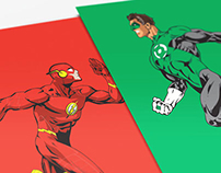 Character Collection 1 - The Flash, Green Lantern