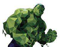 Polygon Art Superhero (Marvel)