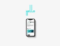 """""""HELLO"""" Social Network Concept"""