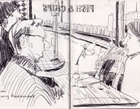 Sketches and drawings at Brighton