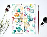 Pattern Design   Water Color