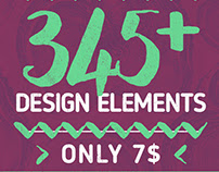 Vector Design Bundle: 345+ DESIGN ELEMENTS