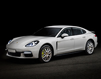 Porsche Panamera by Dmitry Zhuravlev for Esquire Russia