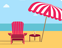 Adirondach  Chair Beach Free Vector