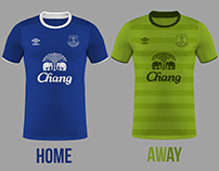 Everton Football Kits Home/Away