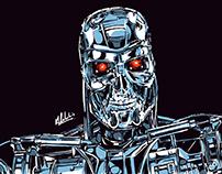 Terminator / Robocop MondoTees Illustration