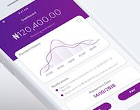 Minimalist Dashboard Concept - Micro-Loans Company