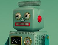 Robot Vintage 3D