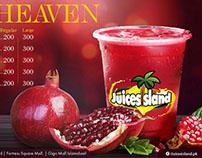 Juice Island Orange Juice & Pomegranate juice Tray Line
