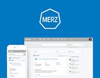 Merz Intranet Platform: UX/UI, Front-end and Back-end