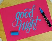 Brushpen, Flat Pen & Crayola Lettering Set 6