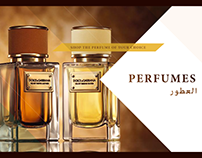 Perfume Banner Design with Middle Eastern Touch