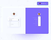 Drop down menu Design - Freebie