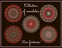 "Collection of mandalas: ""Lase fantasies""."