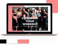 Website design concept, day of women's NIKE