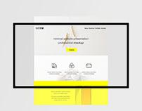 Minimal Flat Website Presentation Mockup