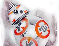 BB-8 watercolor
