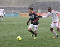 Playing soccer in bad weather