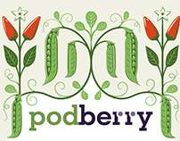 Podberry Packaging Illustration