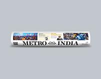 METRO INDIA - NEWS PAPER DESIGN