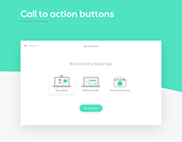 User Interface - Call to action buttons illustrations
