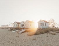 CGI: Beach huts