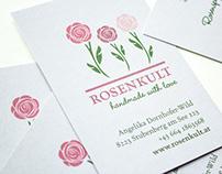 Visitenkarten für Rosenkult – handmade with love