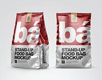 8 Food Bags PSD Mockups