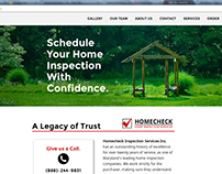 Responsive Service Website: Homecheck Inspections