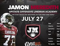 Jamon Meredith Football Camp Flyer