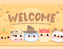 Cute Twitch Friends Halloween Party Overlay Design