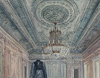 """""""The ghost in the White hall"""" watercolor 2017"""