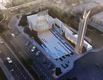 Iconic Mosque  Design & visualizations.