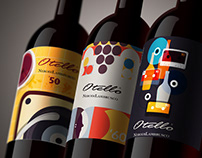 Wine Label - Illustrations for Cantine Ceci