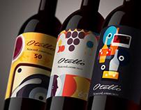Wine Label - Illustrations for Cantine Ceci