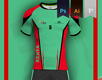 Kenya Home Kit 2016 - Kabbadi World Cup