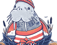 Walrus Sailor - T-Shirt Design