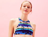 Vintage Palms Print for Bershka Swimwear collection