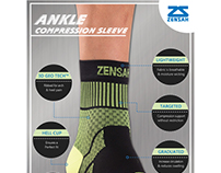 Ankle Compression Sleeve Tech Sheet Modern and Elegant