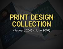 Print Design Collection (Jan '16 - Jun '16)