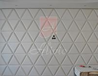 Гипсовые 3D панели Alivio серии Piramide