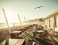 Wintertime at the coastline, Algarve Portugal